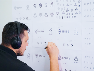 Behind The Scenes branding abstract design drawing defi crypto sketch brand logo concept sketching
