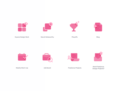Dribbble Concept Icons concept design iconography simple modern dribbble icons