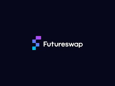 Futureswap Branding f logo f simple modern logo defi currency crypto design brand branding