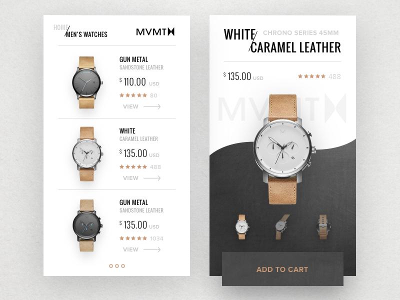 MVMT Watch design flat modern ux ui app watch
