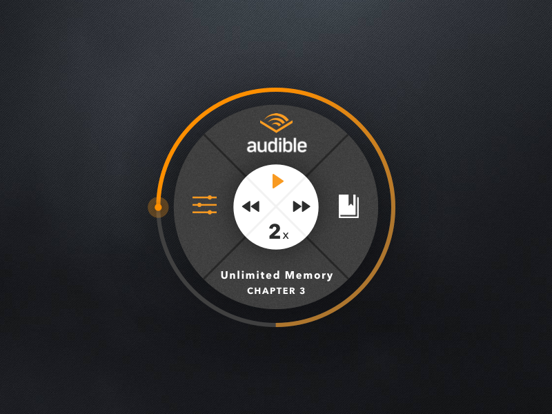 Audible Player by Ted Kulakevich on Dribbble