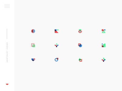 Abstract Icons abstract simple modern design flat illustration icons