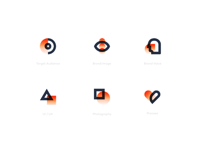 Fire Icons abstract modern simple design branding set website flat illustration icons