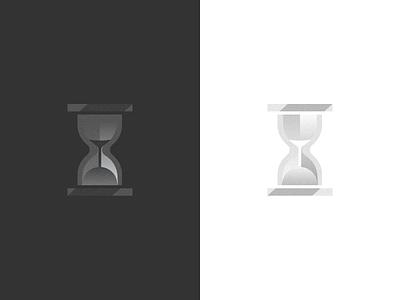 Sands of Time illustration gradient color logo design time hourglass