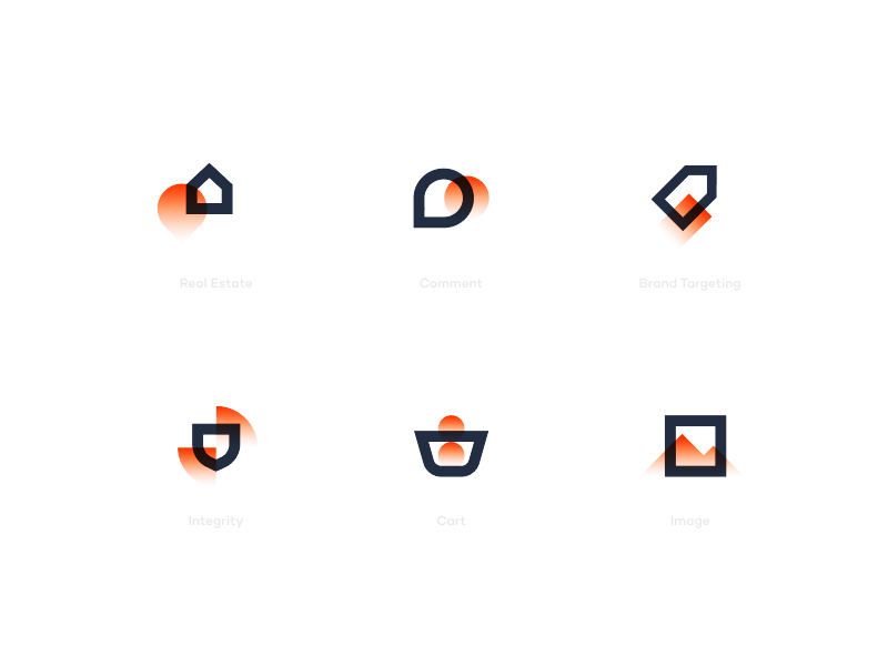 Fire Icons 2 mobile website logo abstract simple modern design flat illustration icons