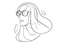 Girl glasses sketch