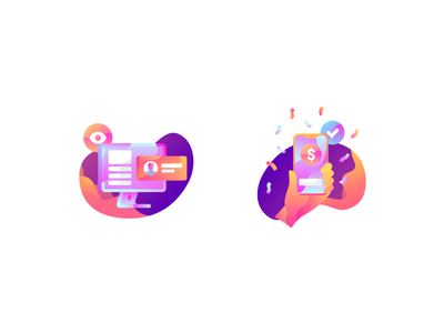 Illustration icons 2.0 computer mobile icon web cool abstract simple flat modern design illustration
