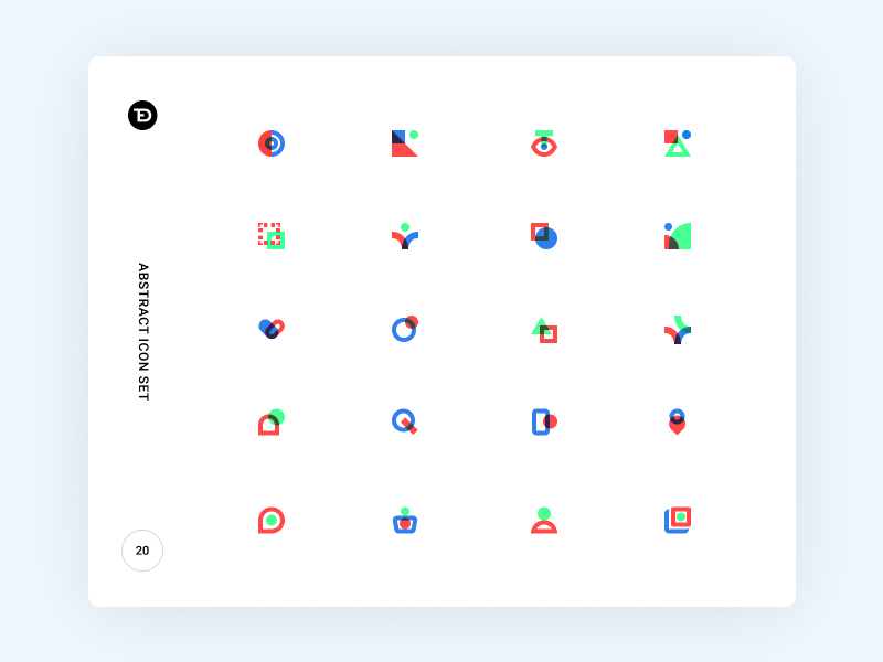 Abstract Icon Set by Ted Kulakevich for Unfold on May 28, 2018