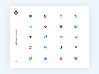 Abstract Icon Set mobile website logo abstract simple modern design flat illustration icons