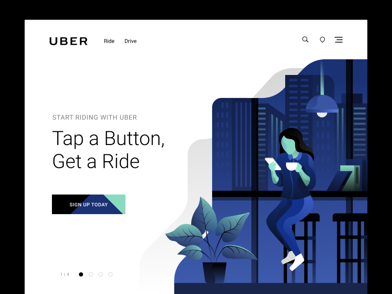 Uber Landing Concept by Ted Kulakevich for Unfold on May 31, 2018