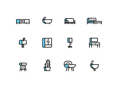 Home Icons estate real house home website abstract simple modern design flat illustration icons
