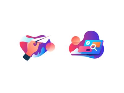 Send & Search Illustration