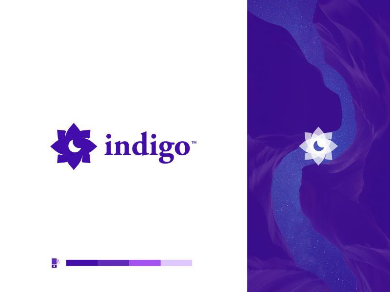 Indigo Logo V2 sleep mattress identity mark icon modern logos branding design logo