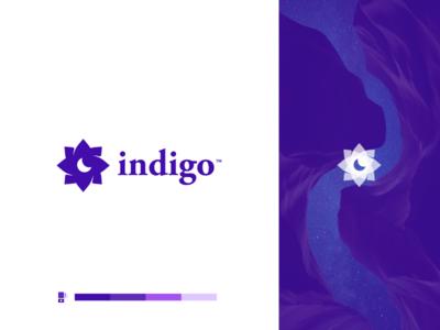Indigo Logo V2 sleep mattress identity mark icon modern logos branding design logo