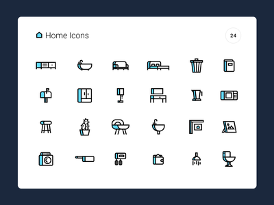Home Icons fill outline pack set icons simple ux website estate real modern home