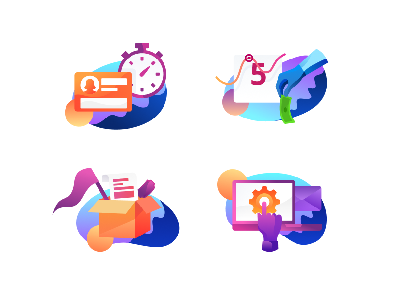 Campaign Illustrations website simple modern ux ui icon abstract illustration