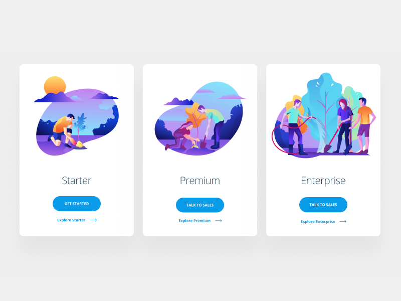 Pricing Illustrations color abstract modern simple money web icon pricing illustration