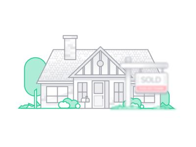 Sold Home Illustration