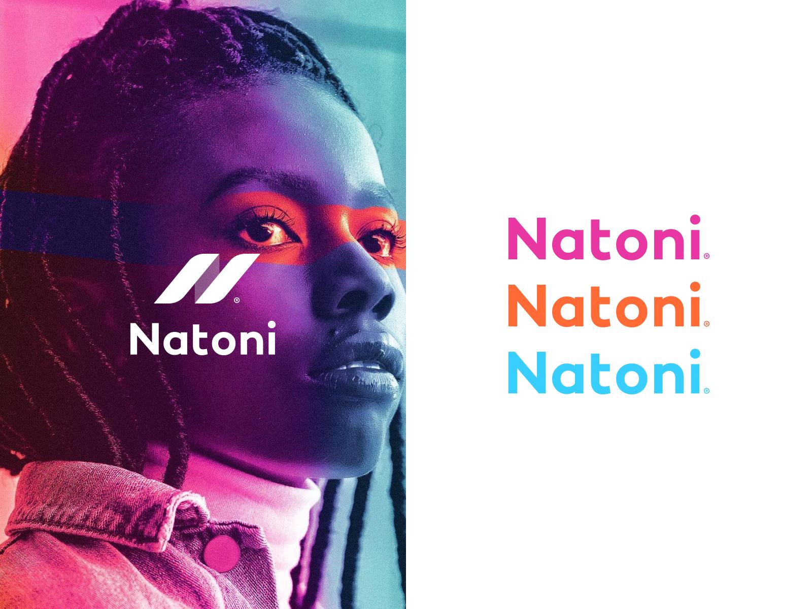 Natoni Branding branding ui active gym web clean simple modern logo brand