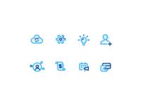 Blue Icon Set 2
