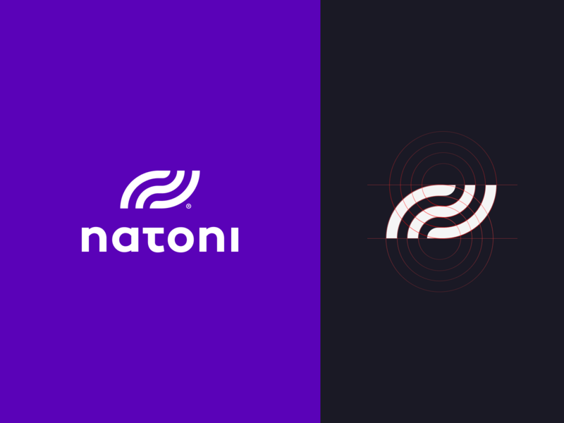 Natoni Logo abstract clean modern simple design logo branding
