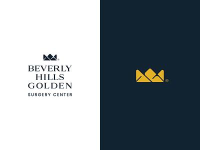 Beverly Hills Logo luxury brand rich gold crown logo