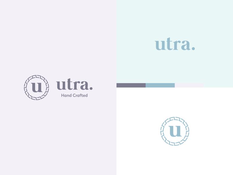 Utra Branding branding clean icon web flat logo simple design modern
