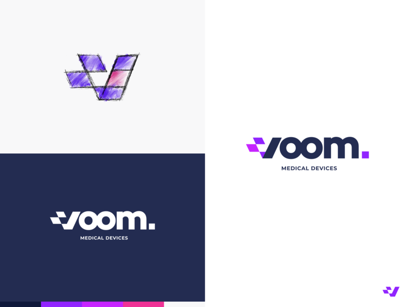 Voom Branding clean branding icon abstract logo simple design modern