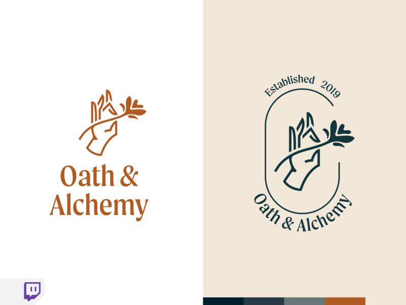 Oath & Alchemy Part 2 twitch stream website flat web branding vector logo modern design