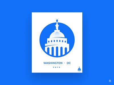 Washington DC modern vector icon abstract flat logo illustration simple