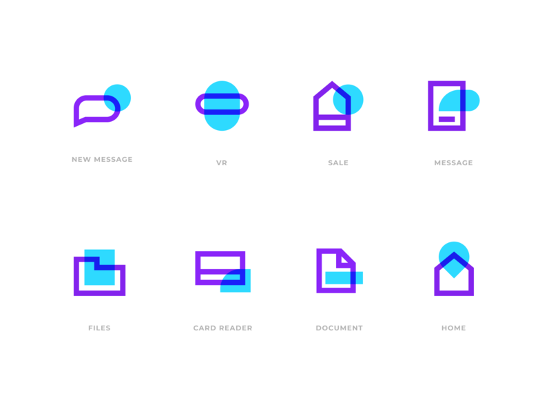 Ice Icons icon set vector icon abstract logo simple design modern