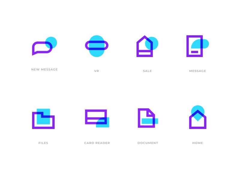 Ice Icons icon set vector icon abstract logo simple design modern