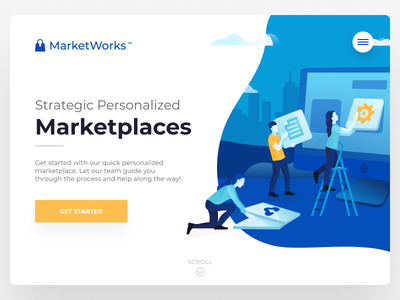 Personalized Marketplaces website web abstract logo illustration simple design modern