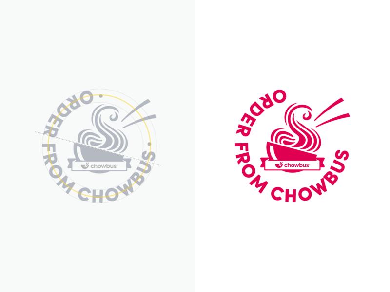 Chowbus Door Sticker branding door flat logo illustration simple design modern