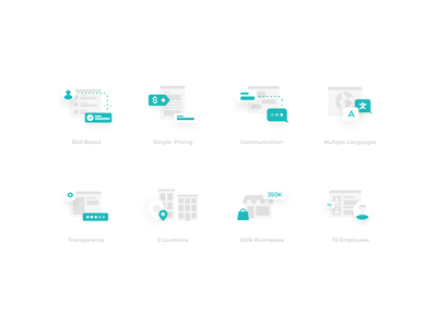 Business Icons vector clean icon ui illustration simple design modern