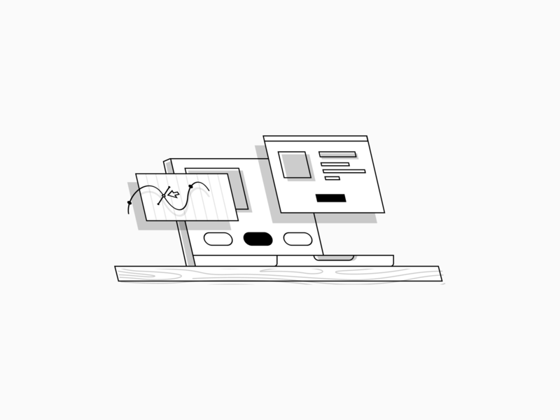 Web Design Illustration web vector modern simple abstract tilted greyscale illustrations web design