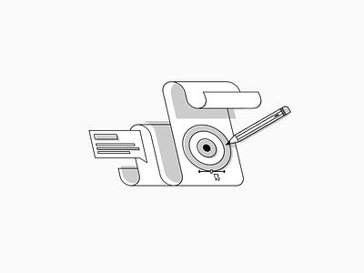 Branding Illustration greyscale website ui web flat abstract design simple modern illustration