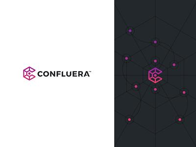 Confluera Concept identity mockups typography branding flat logo abstract design simple modern