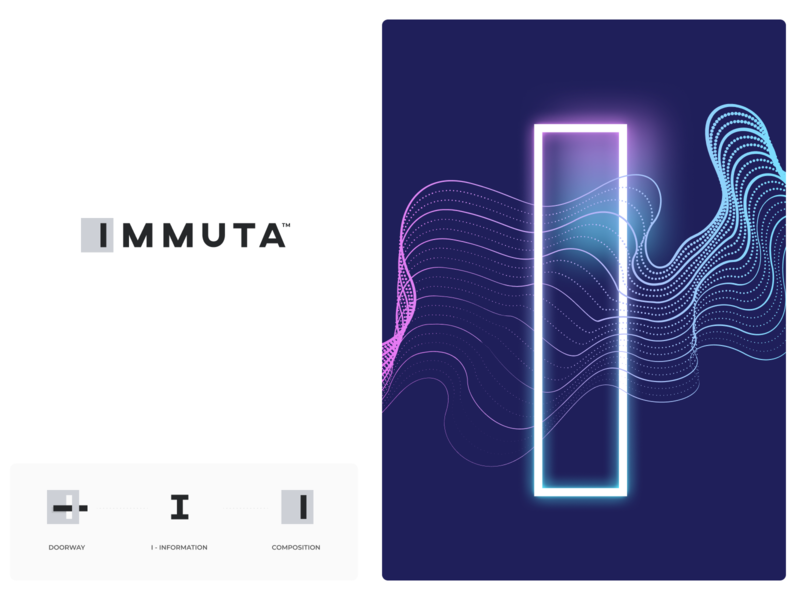 Immuta Branding brand guidelines immuta clean abstract design simple modern branding agency branding design logo branding