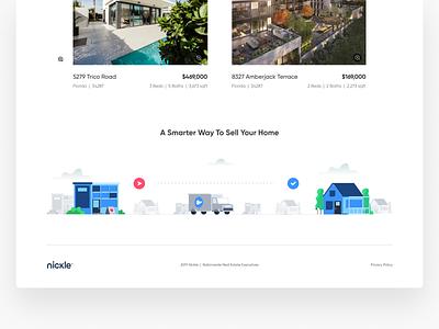 Nickle Illustration house real estate icon web illustration simple modern