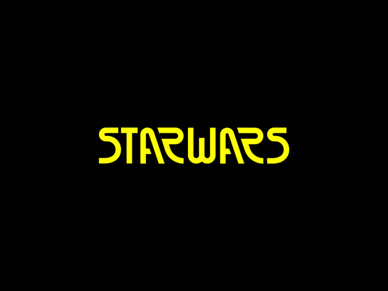 Star Wars Logo Exploration simple modern vector branding logo redesign space starwars star trek star wars