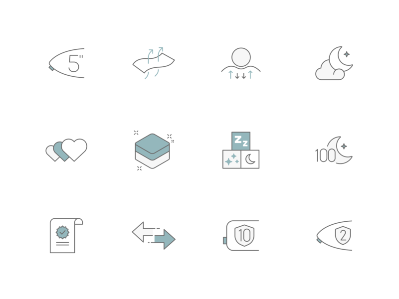 Mattress Icons simple modern flat abstract icons pack svg iconset mattress