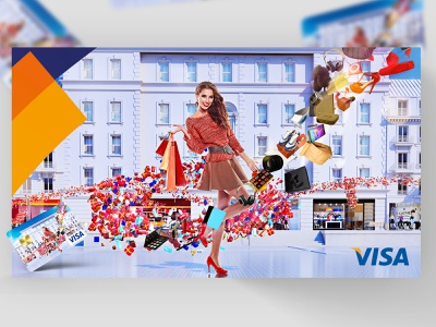 Visa - loteria nagród render blender vray motion graphics graphic design 3d animation icon logo ux app typography vector branding ui illustration design