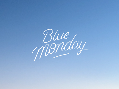 BlueMonday font letters typography handlettering lettering sky