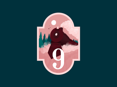 Advent Calendar - Day 9 polar express train badge illustration