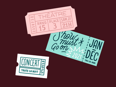 Advent Calendar - Illustration Day 5 show theatre ticket lettering typography