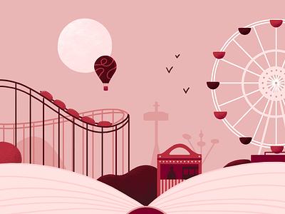 Advent Calendar - Illustration Day 16 big wheel amusement park illustration