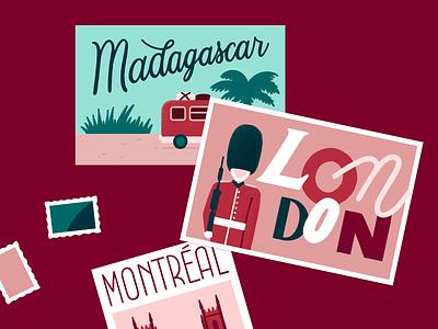 Advent Calendar - Illustration Day 20 illustration stamp montreal madagascar london travel postcard font handlettering typography lettering