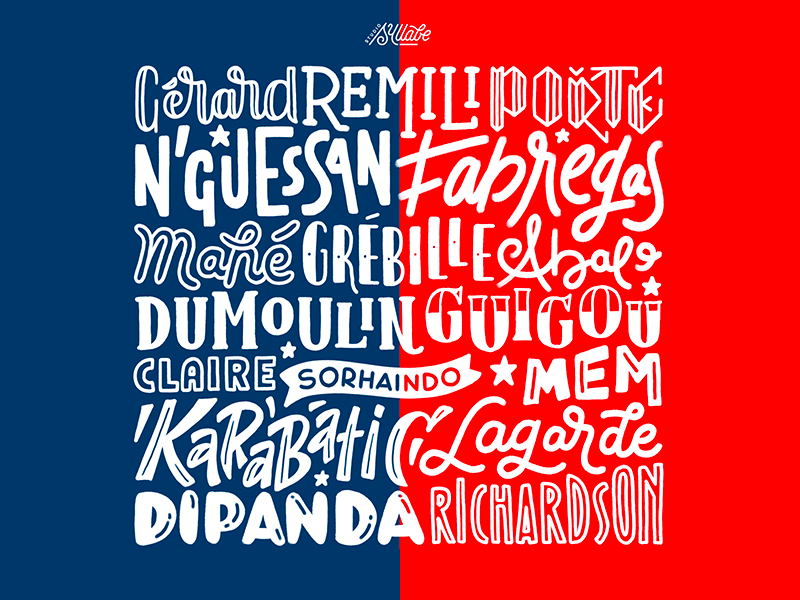 French Team 2019 - Les Experts team sport france handball surface pro letters typography handlettering lettering
