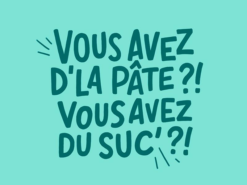 Crêpe au sucre font typography letters handlettering lettering